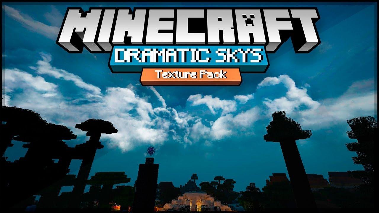ᐅ Dramatic Skies Texture Pack Für Minecraft - Minecraft texture pack namen andern