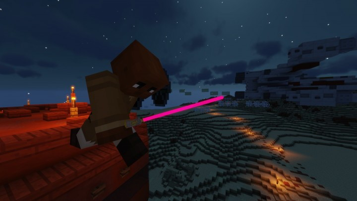 Glowing 3D Lightsabers Texture Pack
