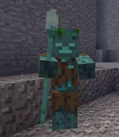 Minecraft 1.13 - Ertrunkener mit Dreizack