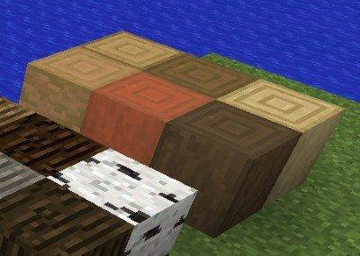 Minecraft 1.13 - Holzkern Blöcke