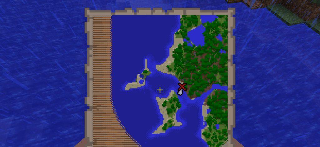 Minecraft 1.13 - Schatzkarte: erkundete Gegend
