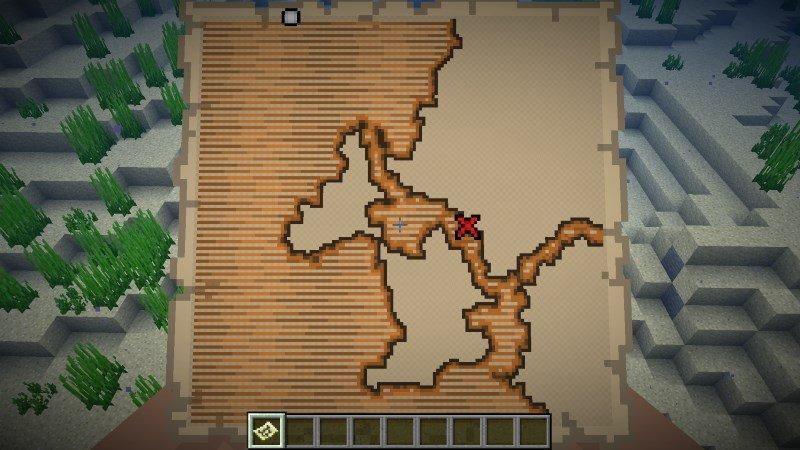 Minecraft 1.13 - Schatzkarte: nicht erkundete Gegend
