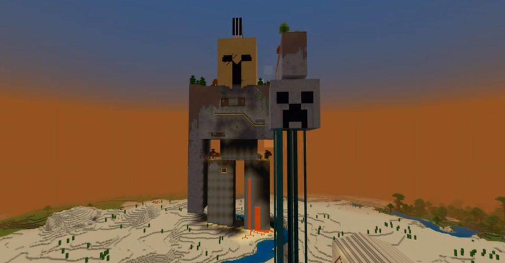 Unheimliche Riesenskelette in Minecraft? Golem